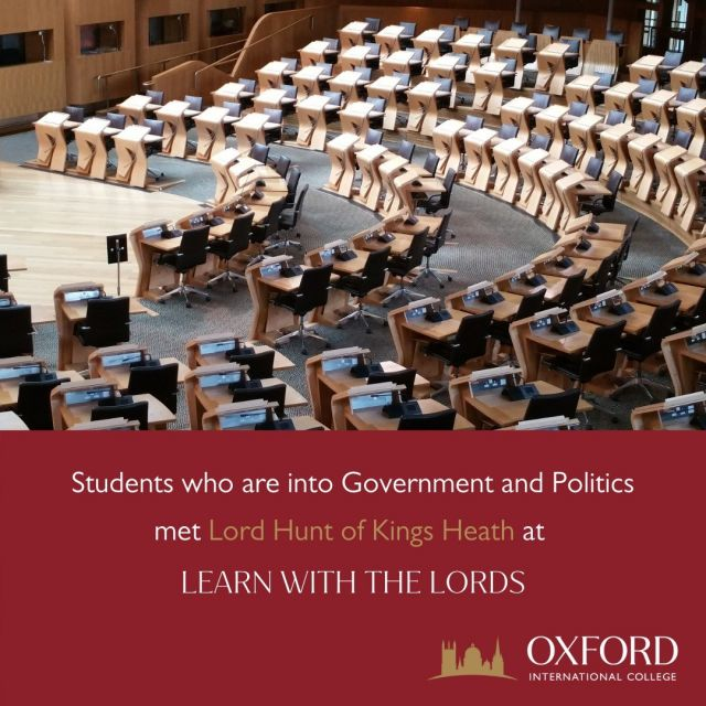 Our students were offered an excellent opportunity  to Learn with the Lords last year. Around 20 GCSE and A-Level students who are into Government and Politics e-met Lord Hunt of Kings Heath.  These are some exciting questions that OIC students asked: - Should the House of Lords' peers be appointed for a 15-year period and replaced instead of appointed for life? - Should the spiritual leaders of the House of Lords, such as Anglican bishops be replaced for secular peers? - Can a member of the House of Lords do a good job in an area or committee that the peer is not an expert on?  So, in case you are signed up for an opportunity to Learn with the Lords this year, what question(s) would you like to ask the Lord/Baroness?   #oic #oicfamily #parliament #ukparliament #lords #baroness #politics